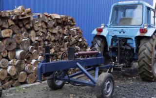 Дровокол на трактор: устройство и как сделать своими руками
