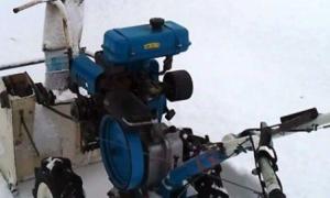 Делаем из культиватора снегоход и снегоуборщик
