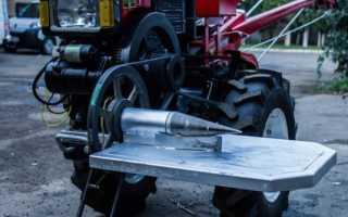 Принцип и особенности работы с дровоколом для мотоблока
