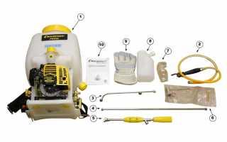 Бензиновый опрыскиватель: описание и характеристики