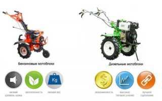 Какой мотоблок лучше выбрать: дизельный или бензиновый?