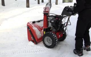 Колеса и шины снегоуборщиков — особенности эксплуатации